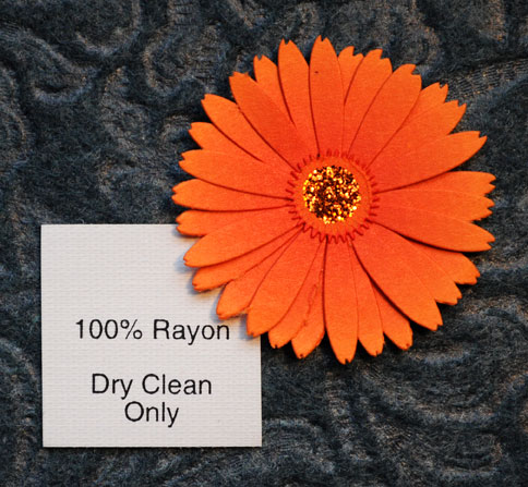 100% Rayon (with care info)