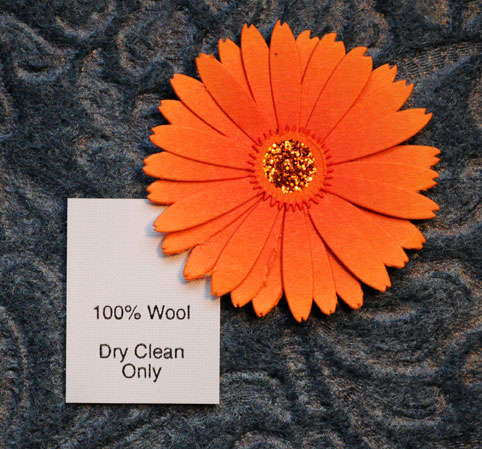 100% Wool (with care info)