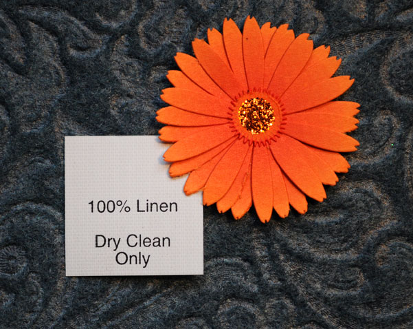 100% Linen (with care info)